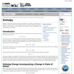 Enthalpy - ChemWiki