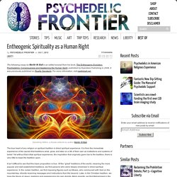 Entheogenic Spirituality as a Human Right - Psychedelic Frontier