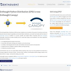 Python Distribution :: Products :: Enthought, Inc.