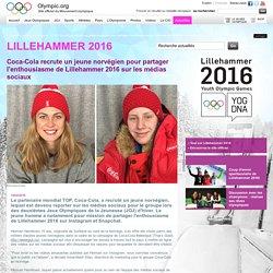 Coca-Cola recrute un jeune norvégien pour partager l'enthousiasme de Lillehammer 2016 sur les médias sociaux