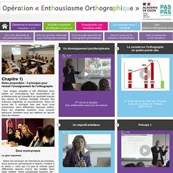 Chapitre 1 - Opération enthousiasme orthographique