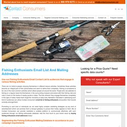 Fishing Enthusiast Mailing Addresses Database