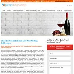 Wine Enthusiast Mailing Addresses Database