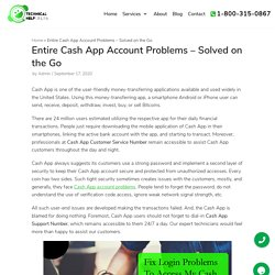 Entire Cash App Account Problems – Solved on the Go