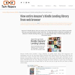 View entire Amazon's Kindle Lending library from web browser