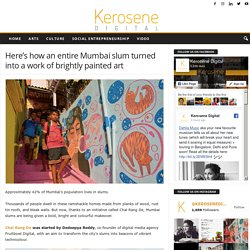 Here's how an entire Mumbai slum turned into a work of brightly painted art