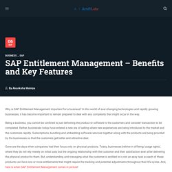 SAP Entitlement Management Key features and Benefits - Acuiti Labs