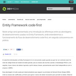 Entity Framework code-first