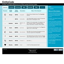 Entity Code - A Clear and Quick Reference