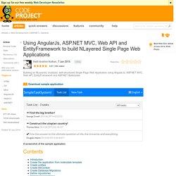 Using AngularJs, ASP.NET MVC, Web API and EntityFramework to build NLayered Single Page Web Applications