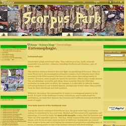Entomophagie. - Site sur le bon maintien de scorpions en captivités = SCORPUS PARK