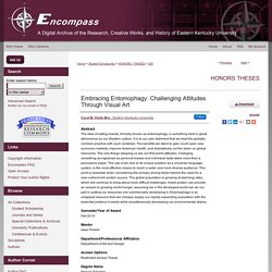 Eastern Kentucky University - FEV 2014 - Thèse en ligne : Embracing Entomophagy: Challenging Attitudes Through Visual Art