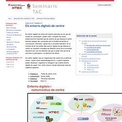 Els entorns digitals de centre - Seminaris TAC