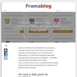 entraide.chatons.org : des services libres en ligne sans inscription