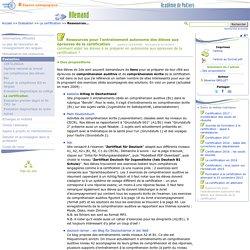Ressources pour l'entraînement autonome des élèves aux épreuves de la certification- Allemand
