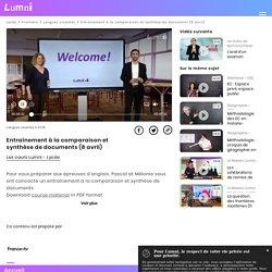 Entraînement à la comparaison et synthèse de documents (8 avril) - Vidéo Langues vivantes