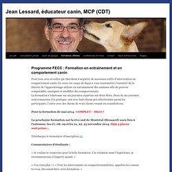 Programme FECC : Formation en entraînement et en comportement canin