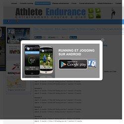Plan d'entrainement débutant running jogging et footing 101bis courir 45'