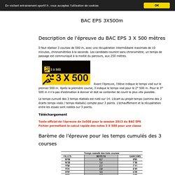 BAC EPS 3 X 500 mètres entraînement VMA et Fractionnés