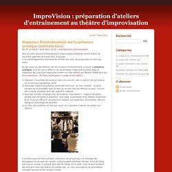 préparation d'ateliers d'entrainement au théâtre d'improvisation - page 2