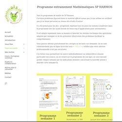 Programme d'entrainement Maths 5P HARMOS