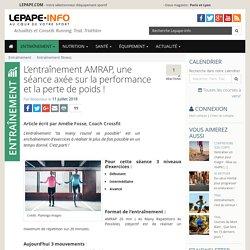 L'entraînement AMRAP, une séance axée sur la performance et la perte de poids !