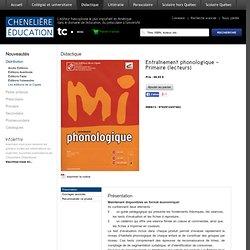 Entraînement phonologique - Primaire (lecteurs)