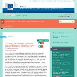 Le Groupe d'Entraînement à l'Analyse de Situations Educatives (G.E.A.S.E.), un outil d'analyse de pratiques précieux pour la formation continue