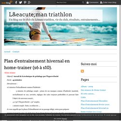 Plan d'entraînement hivernal en home-trainer (s6 à s10). - Léman triathlon
