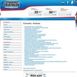 Conseils et Articles pour l'entrainements aux triathlons