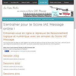 S'entrainer avec les annales du test SIM - La Prépa Maths IAE
