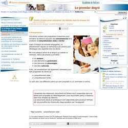 Outils d'aide pour entraîner les élèves vers le niveau A1- Portail premier degré