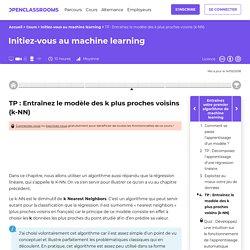 TP : Entraînez le modèle des k plus proches voisins (k-NN) - Initiez-vous au machine learning