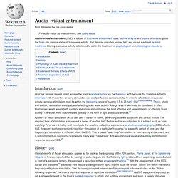 Audio-Visual Entrainment