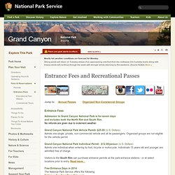 Entrance Fees and Recreational Passes - Grand Canyon National Park