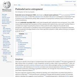 Pudendal nerve entrapment