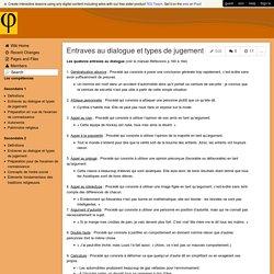 ECR-Aubier - Entraves au dialogue et types de jugement