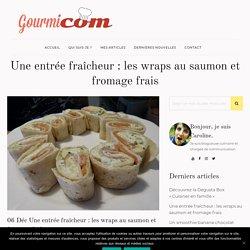 Wraps au saumon et fromage frais