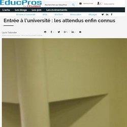 Entrée à l'université : les attendus enfin connus