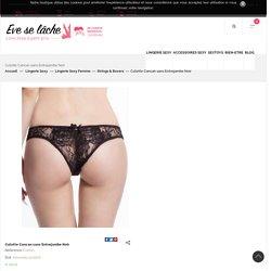 Culotte Cancan sans Entrejambe Noir Discount pas cher - Sexshop Eveselache