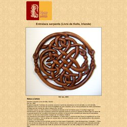 Image : Entrelacs serpents (Livre de Kells, Irlande)