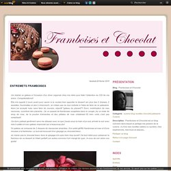 Entremets Framboises - Framboises et Chocolat