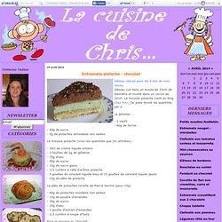 Entremets pistache - chocolat - La cuisine de Chris