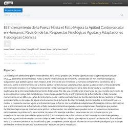 El Entrenamiento de la Fuerza Hasta el Fallo Mejora la Aptitud Cardiovascular...
