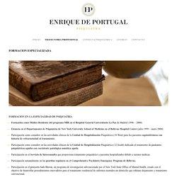 Tome la consulta psiquiatra del Dr. Enrique De Portugal en Madrid