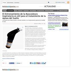 El Entrenamiento de la Musculatura Inspiratoria es útil para el tratamiento de la Apnea del Sueño - notas de prensa