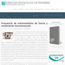 Frecuencia de entrenamiento de fuerza y rendimiento neuromuscular