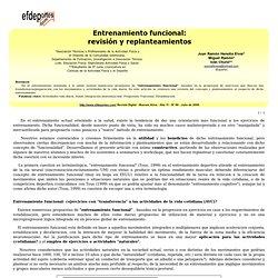 Entrenamiento funcional: revisión y replanteamientos