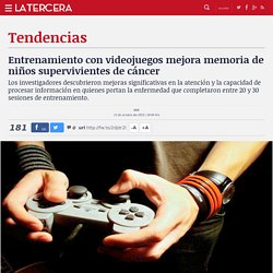 Entrenamiento con videojuegos mejora memoria de niños supervivientes de cáncer