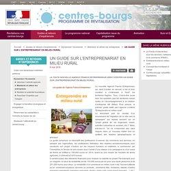 UN GUIDE SUR L'ENTREPRENARIAT EN MILIEU RURAL - Centres-bourgs - Programme de revitalisation